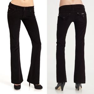 Hudson signature bootcut corduroy pant in black